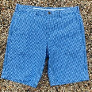 Izod Sz 34 Men's Seersucker Check Golf Shorts